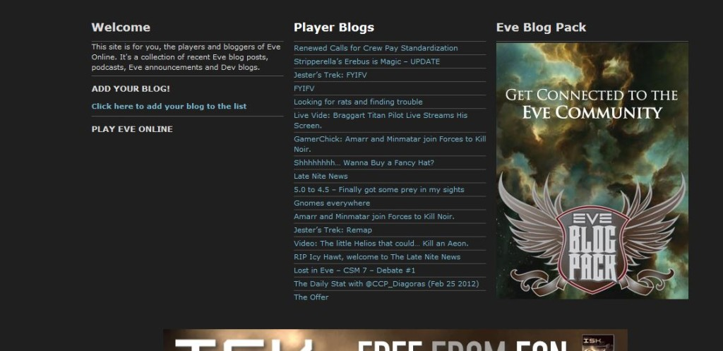 The old eve bloggers site